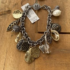 Chico's Silver and Gold Charm Bracelet